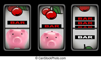 Animation of slot machine in high definition