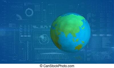 Animation of spinning globe