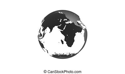 Animation of spinning globe of the Earth planet