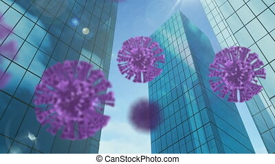 Animation of spreading coronavirus covid19 cells in modern ...