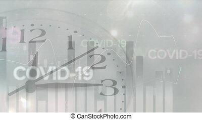 Animation of statistics during coronavirus covid19 pandemic ...