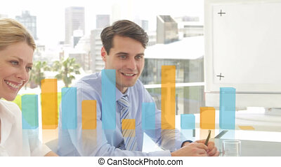 Animation of statistics over business meeting