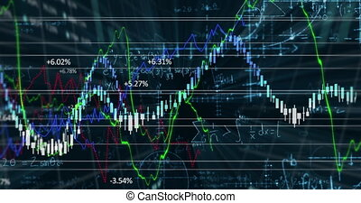 Animation of stock exchange market information with ...