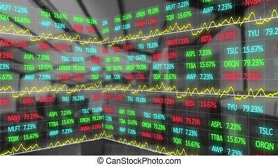 Animation of stock market display .