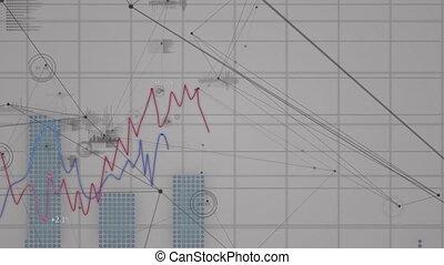 Animation of stock market display on white background. - ...