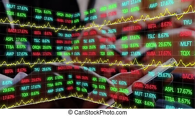 Animation of stock market display