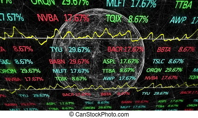 Animation of stock market display
