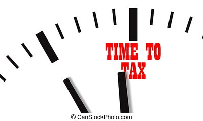 Animation of Tax Time Clocks. UltraHD video - Animation of...