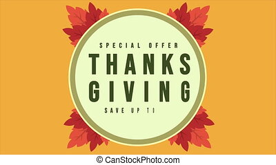 Animation of Thanksgiving sale special offer