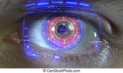 Animation of the eye with holograms HD
