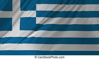 Animation of the Flag of Greece waving