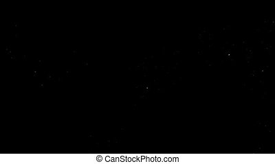 Animation of the galaxy on a black background HD