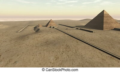 Animation of the Giza platform Egypt in 3D - An animation of...