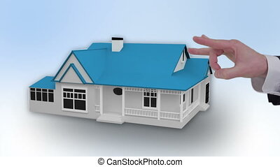Animation of the property market with estate agent and sold...