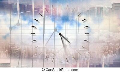 Animation of turning clock
