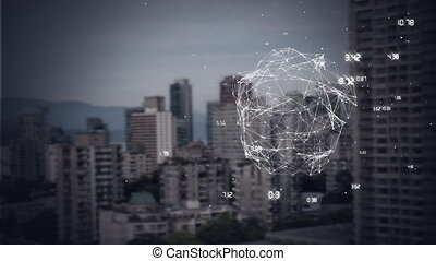 Animation of turning globe