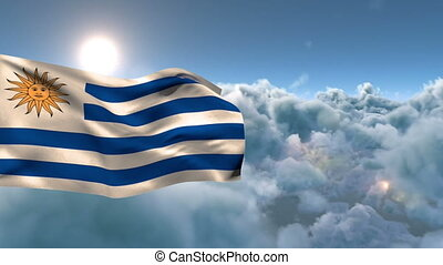 Animation of Uruguay national flag waving
