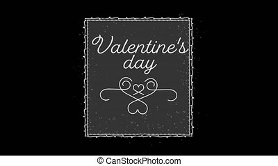 Animation of valentines day with black background