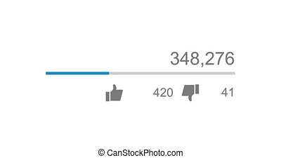 Animation of video views counter, counter of likes and...