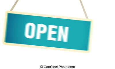 Open sign with matte channel