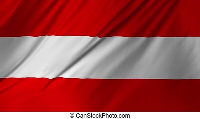 Animation of waving flag of Austria 2 in 1