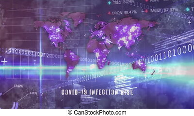 Animation of world map with Covid-19 Infection Rise over ...