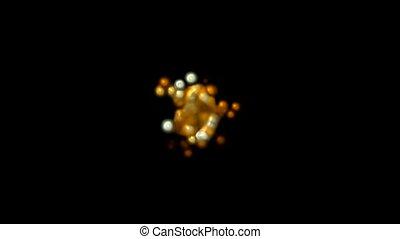 animation of yellowish brown cells, virus, egg