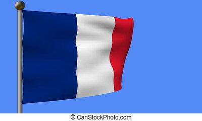 flag of france on pole