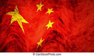 Flag - china - grunge - Animation on emblems - Flag - china...