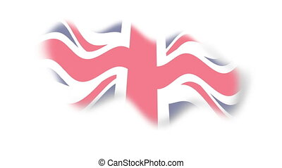 Flag - england - background - Animation on emblems - Flag - ...