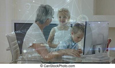 animation par ordinateur, personne agee, elle, utilisation, ...