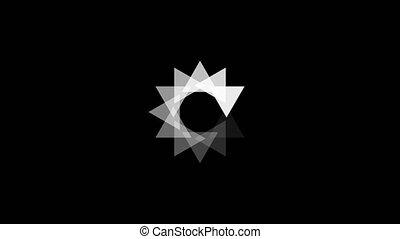 animation, pas, arrière-plan., preloaded, icon., blanc, répondre, icône, circle., chargement