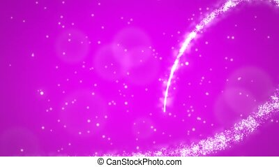 Animation pink hearts of love with glitters, wedding background