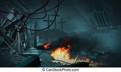 Post apocalyptic scene - animation - Post apocalyptic scene