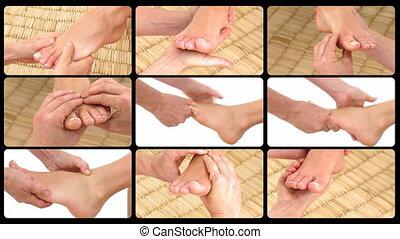 Animation presenting the feet massa