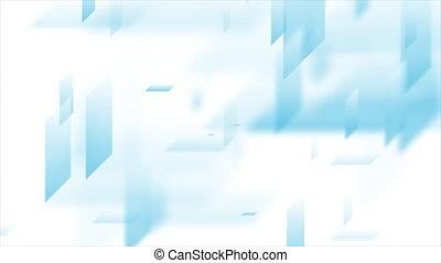 animation, résumé, vidéo, blanc, bleu, technologie, ...