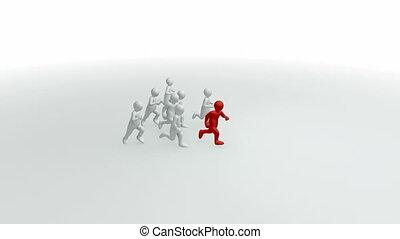 3d-men running