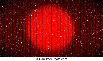 animation, rideaux, projecteur, ouverture, numérique, 4k, théâtre