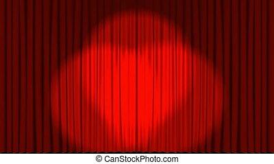 animation, rideaux, projecteur, ouverture, théâtre