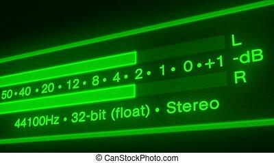 animation, seamless, -, boucle, spectre, vidéo, audio