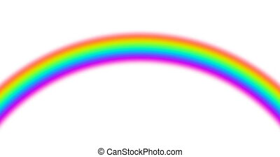 animation set of 3 motion rainbow on white background with alpha-matte. Nature design.