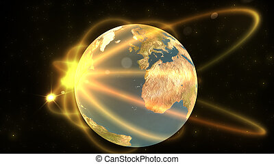 Animation showing a terrestrial globe in high definition