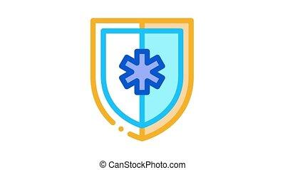 animation, signe, protection, icône, monde médical