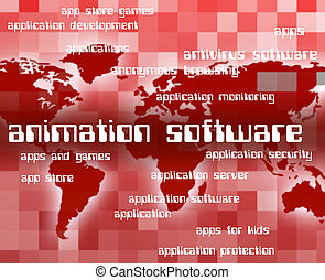 Animation Software Represents Programs Softwares And ...