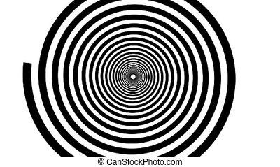 animation., spirale, hypnotique