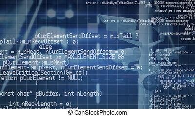 animation, sur, grille, cameras, traitement, cctv, données