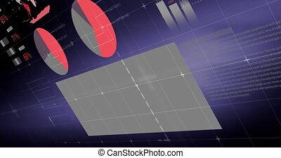 animation, sur, grille, statistiques, traitement, financier, données