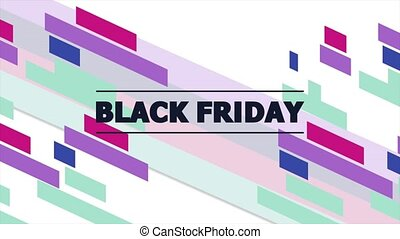 Animation text Black Friday and motion abstract geometric ...