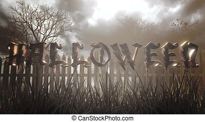 Animation text Halloween and mystical halloween background ...
