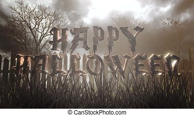 Animation text Happy Halloween and mystical halloween ...
